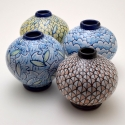 "Carly:Dave Van Anglen:Ferro - Small globes approximately 6""X5.5""X5.5"" each"