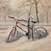 Bhavisha Patel: Bicycles In Snow VII
