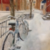 Bhavisha Patel: Bicycles in Snow II