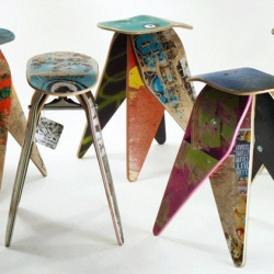 Deckstool Skateboard Recycling