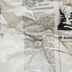 Amy Cousins: All The Queerness That's Fit to Print: The New York Times 1967-75 (detail)