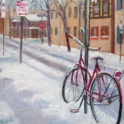 Bhavisha Patel: Bicycle in Snow XIV