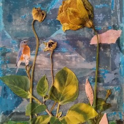 Rosalind Bloom: Dried Flowers with Blue Bird