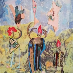 Rosalind Bloom: Flower Heads Having a Chat