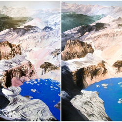 Diane Burko: Grinnell Mt. Gould Quadtych