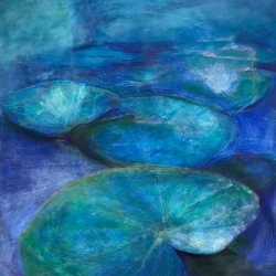 Judy Caldwell: Blue Lily Pads