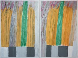 Robert Solomon: abstract diptych1a13 (two blades of grass)