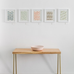 Carla Weeks: Overview of Watercolor pattern study series