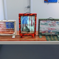 Carol Taylor-Kearney: American Prayer Flags: Boxes and Table