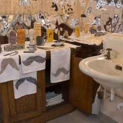 Cheryl Harper: Officer's Washroom: Reflections on Hirsute Hegemony, detail
