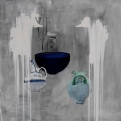 Christina Penrose: Ancient Vessels in grey & white