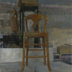 Daniel Dallmann: Studio Interior with Chair