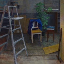 Daniel Dallmann: Studio Interior with Blue Jacket