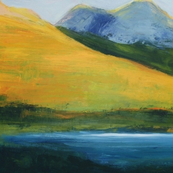 M. Pia De Girolamo: Yellow Mountain and Lake<