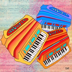 Dora Ficher: Colorful Accordions