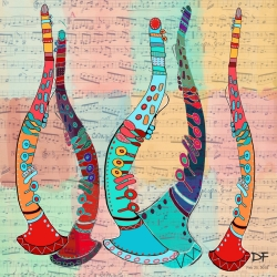 Dora Ficher: Dancing Clarinets