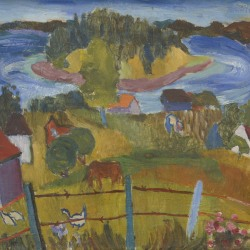 Mildred Elfman Greenberg: Nova Scotia Farm II (Pre-W.P.A. #18)