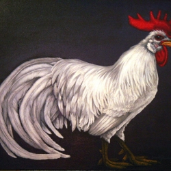 Eric Fausnacht: 13-white-leghorn-rooster-2007