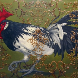 Eric Fausnacht: 15-white-winged-rooster-2006