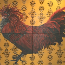 Eric Fausnacht: 8-golden-polish-rooster-panel-2007