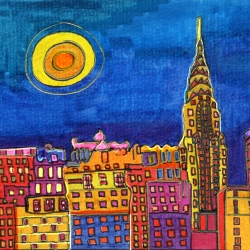 Dora Ficher: NYC Blue Sky