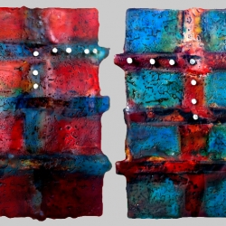 Dora Ficher: Untitled Red and Untitled Blue