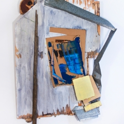 Julia Fox: Garage with Blue Door III