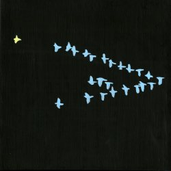 Mira Elwell: Geese in the Night Sky