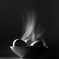 Geoffrey Agrons: Three Steaming Eggs