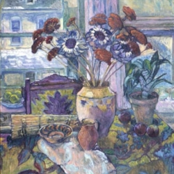 Helene Halstuch: Still Life with French Pot