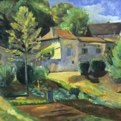 Helene Halstuch: Houses on the Road to Marcayrac