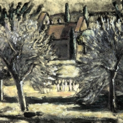 Helene Halstuch: Orchard and Chapel, Camy