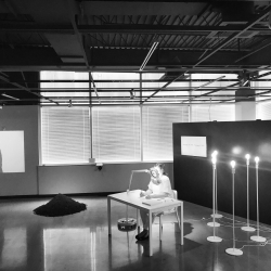 Heather Sincavage: Memorial (Lehigh County segment), the act of counting breath for victims of domestic violence, installation view