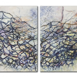 Nanci Hersh: Nest, diptych