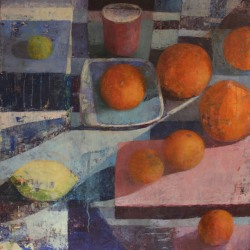 Melissa Husted-Sherman: Red cup and oranges