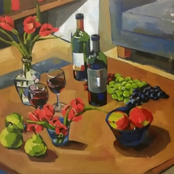 Jenn Hallgren: Still Life with Wine