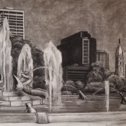Jenn Hallgren: Logan Square Drawing