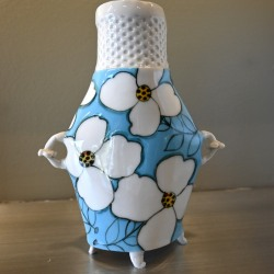 Jerry Bennett: Blue and White Floral Flower Vase