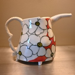 Jerry Bennett: Red and White Teapot