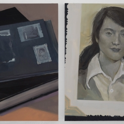 Olivia Jia: untitled (books & pictures) diptych