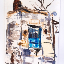 Julia Fox: Garage with a Blue Door
