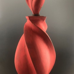 Peter Cunicelli: Red Swirl Bottle
