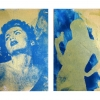Wendee Yudis: Blue Temptress & Captive, diptych
