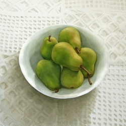 Lauren J. Sweeney: Pears on White