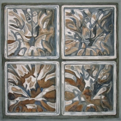 Lauren J. Sweeney: Rorschach Test in Glass Block