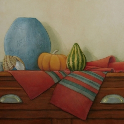 Lauren J. Sweeney: Gourds with Blue Vase