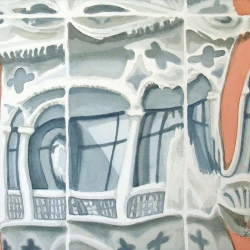 Lauren J. Sweeney: Funhouse Reflections of a Venetian Palace, Closeup View