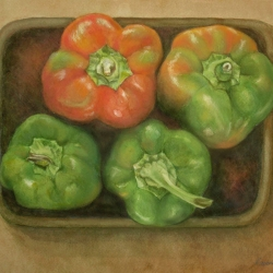 Lauren J. Sweeney: Pepper Quartet in Orange and Green