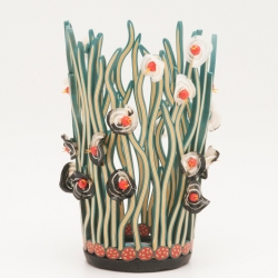 Emily Squires Levine: Vase with Blossoms
