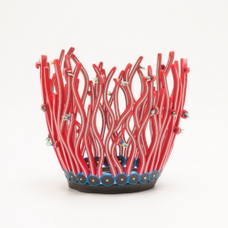 Emily Squires Levine: Tendrils Pot with Blooms